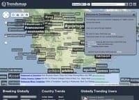 TrendsMap. Suivez les tendances Twitter geolocalisees.