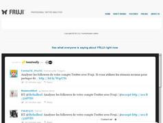 Fruji. Analyse et veille de votre compte Twitter.