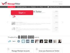 ManageFlitter. Mieux gerer et developper sa communaute sur Twitter.