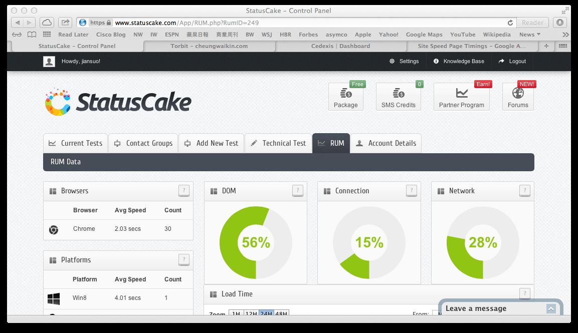 StatusCake. Outil de veille sur vos sites et pages Web. | Les outils de la veille