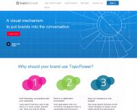 TopicFlower. Developper et visualiser l'influence de sa marque.