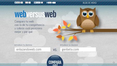 WebversusWeb. Comparez votre site a celui d'un concurrent