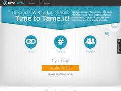 Tame. Resume en temps reel votre timeline Twitter