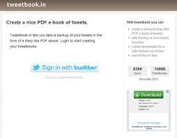 TweetBook Faire un ebook avec vos tweets