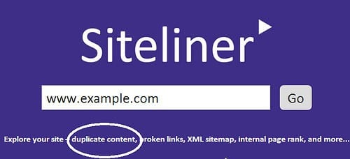 SiteLiner. Detecter le contenu en double sur votre site