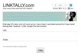 LinkTally. Mesurez l'impact d'une page web sur les reseaux sociaux
