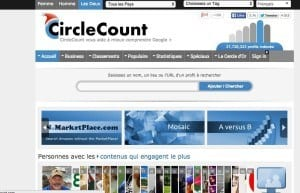 Circle count Google+