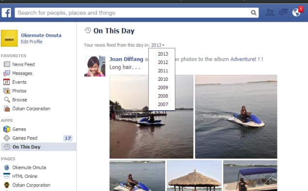 flashback facebook